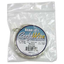 Craft Wire 14ga Round 10ft/spl Non Tarnish Slvr