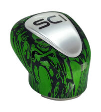 Gear Shift Knob Green Skulls 9/10 Speed For Eaton Trucks PB KW FL++++