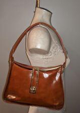 Vintage 50'S Nicholas Reich Leather Handbag Unique Honey Brown Satchel Purse