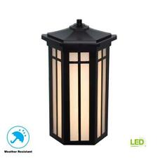 Home Decorators Collection Antique Bronze Outdoor LED Pocket Wall Lantern Sconce