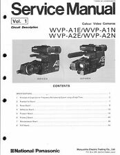 National Panasonic  Original Service Manual für WVP-A 1E/N WVP-A 2 E/N 5-teilig