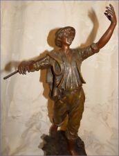 Ancienne Grande Statue Art Nouveau Le Faucheur par Géo Maxim