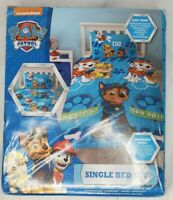Paw Patrol Reversable Duvet Cover Set Fabric Single Bed Set Spy Chase Rubble