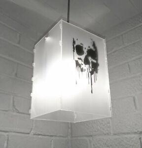 lampshade light shade DRIPPING BLOOD SKULL BLACK FANTASTIC TEENAGE BEDROOM