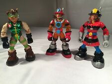 Lot of 3 Mattel Rescue Heroes Action Figures Females Women