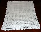 HEIRLOOM BABY CHRISTENING SHALL HAND CROCHET 27INCHES BY 33 INCHES