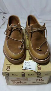 Ladies Barker Tan Suede Size UK 4 Soft Calf Leather Uppers in Original Box (38)