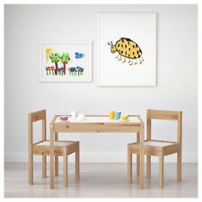 Toddlers Table and Chairs Kids Children Play Desk Nursery School Wooden Table
