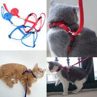 NE_ Cy_ KE_ Adjustable Nylon Cat Dog Pet Harness Collar Lead Leash Traction Safe