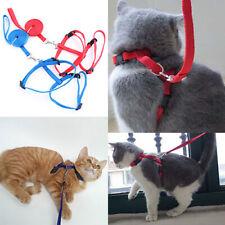 PW_ Cy_ KE_ Adjustable Nylon Cat Dog Pet Harness Collar Lead Leash Traction Sa