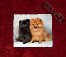 Pomeranian Dog Microfibre Glasses Camera Lens Phone Screen Cleaning Cloth-No2