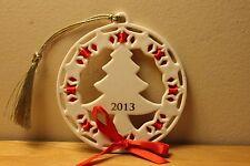 Lenox 2013 Annual Christmas Wrappings (tree) holiday ornament Nib