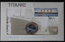 CANADA 2012 TITANIC COMMEMORATIVE - Coloured 25 CENTS & STAMP SET-100 ANNIV-NCC