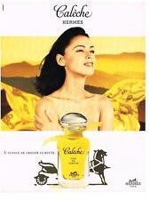 PUBLICITE ADVERTISING  1983   HERMES    soie de   parfum CALECHE 20.2. 13