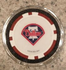 Philadelphia Phillies Texas Holdem Poker Chip Card Guard Protector NEW - RED