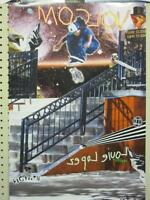VOLCOM surf skateboard 2008 LOUIE LOPEZ 2 SIDED POSTER ~MINT CONDITION~!