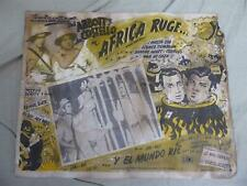Abbott&Costello AFRICA SCREAMS (Ruge) 1949 Movie Poster/Spanish Lobby Card 16x13
