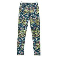 Lularoe Leggings Womens Size One Size OS Green Blue Yellow Floral