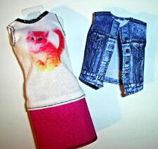 %***Barbie Skipper und Petite Kleidung,Kleid mit Weste**%
