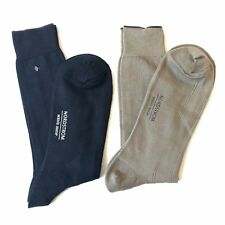 Lot of 2 Nordstrom Mens Shop Dress Socks Soft Cotton Casual Soft One Size OS