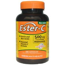 American Health Ester-C with Citrus Bioflavonoids 500 mg 120 Caps FREE Shipping