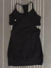 Lululemon Women's Size 6 Black No Limits Tank Top w/Built-In Bra