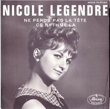 NICOLE LEGENDRE Ne perds pas la tête 1963 French Yé-yé Girl Twist Juke-box ►♬