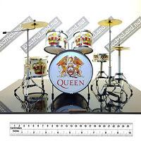 Mini Drum set QUEEN Bohemian Rhapsody fan TRIBUTE 1:4 miniature rock collectible