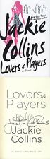 Jackie Collins SIGNED AUTOGRAPHED Lovers & Players HC 1st Ed 1st Print