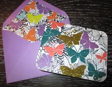 Papyrus Glitter Butterfly Blank Any Occasion Greeting Single Note Card