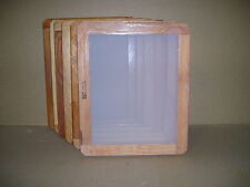 Screen Printing Frames--Box of 6--14 x 17 Wood with 155 White Mesh