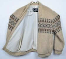 Polarknit of Iceland Women's Sz Large 100% Wool Nordic Full Zip Sweater Jacket
