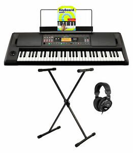 Leicht bedienbares EK-50 L Einsteiger Keyboard mit X-Keyboardständer & Kopfhörer
