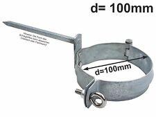 100 mm incl Regenrohrschelle Fallrohrschelle verz 10 x 100 mm Stockschraube