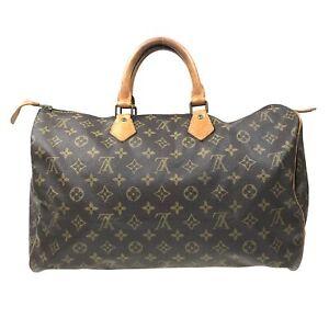 100% Authentic Louis Vuitton Monogram Speedy 40 Handbag M41522 [Used] {07-372C}
