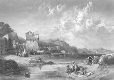 AMALFI COAST VIETRI SUL MARE SALERNO ~ 1859 LANDSCAPE Art Print Engraving RARE!