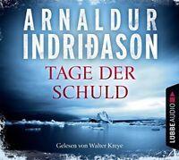 WALTER KREYE - ARNALDUR INDRIDASON: TAGE DER SCHULD  4 CD NEW