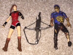 Zombie Cop And Claire Redfield Resident Evil 2 Toybiz Figures