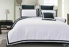 Halsey black White Quilt Cover black striped block duvet cover /options
