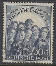 BERLIN : 1950 Berlin Philarmonic Orchestra 30pf+5pf deep blue   SGB73 fine used