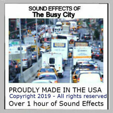 Sound Effects Cd - Sounds Of A Busy City - For Ho Scale Model Railroads