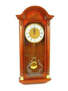 Large Westminster Pendulum And Chime Wall Shelf Clock 28in