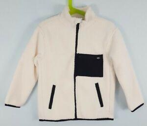 All In Motion Boys' XS 4/5 Cozy Fleece Full Zip Sherpa Jacket Cream