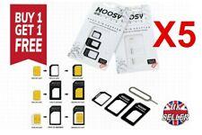 Nano SIM Card to MICRO Standard SIM Adapter converter SET For iPhone & Samsung