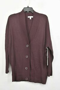 Chelsea Womens Cashmere Blend Oversize Button Front Cardigan 28 XS/S