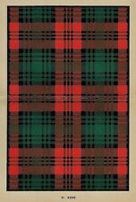 "Johnston's ""Scottish Clans & Tartans"" - ""KERR"" - Chromolithograph - c1890"