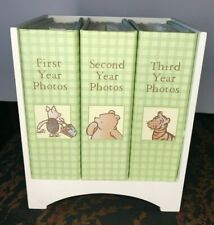 Winnie the Pooh Classic Photo Album Library w/Wooden Holder