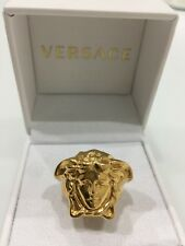 Versace Men's Gold Tone Medusa Ring