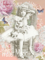 BALLELRINA COLLAGE WD*GORGEOUS*QUILT ART FABRIC BLOCK*READY TO STITCH