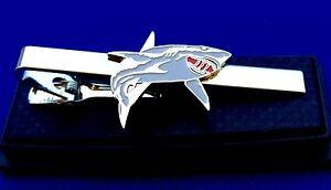 Shark Tie Bar Fisherman Gift Idea Tie Clip Great White Tie Clasp